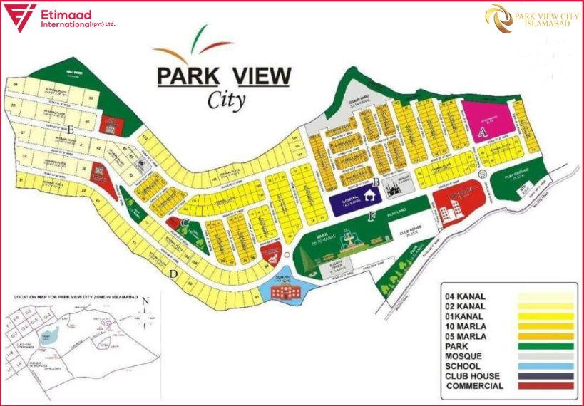 Park View City Islamabad Map